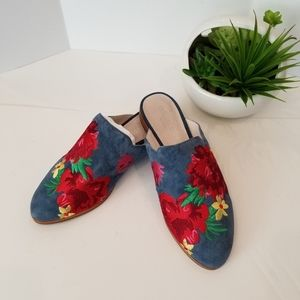 Women's Kenneth Cole embroidered leather shoes s 6